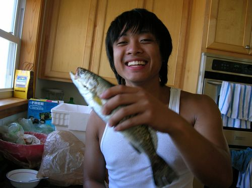 Chris and his trout
