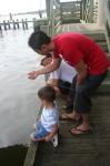 Crabbing off a dock