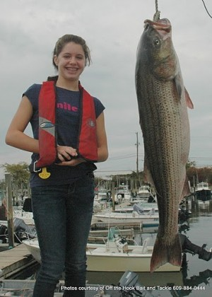 13 Year Old Girl Catches Record Striped Bass