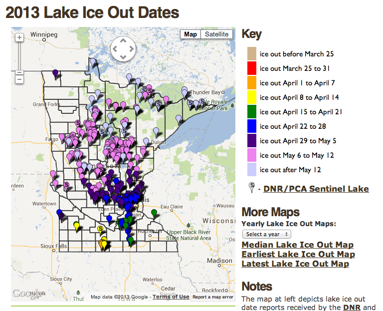 Ice Out 2013 – Update